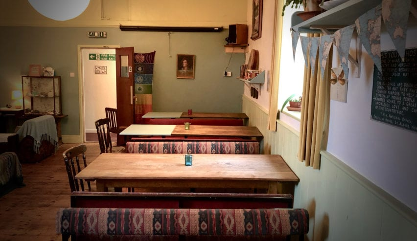 dining tables at Corris Hostel