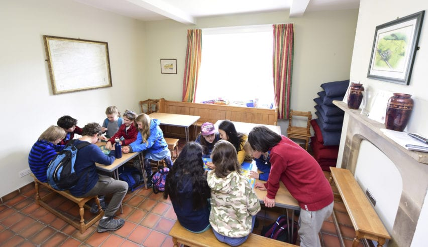school group at Birdoswald Bunkhouse
