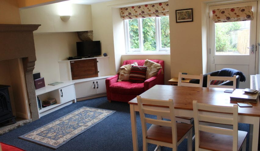 lounge at the holiday cottage at St Micheal's Centre