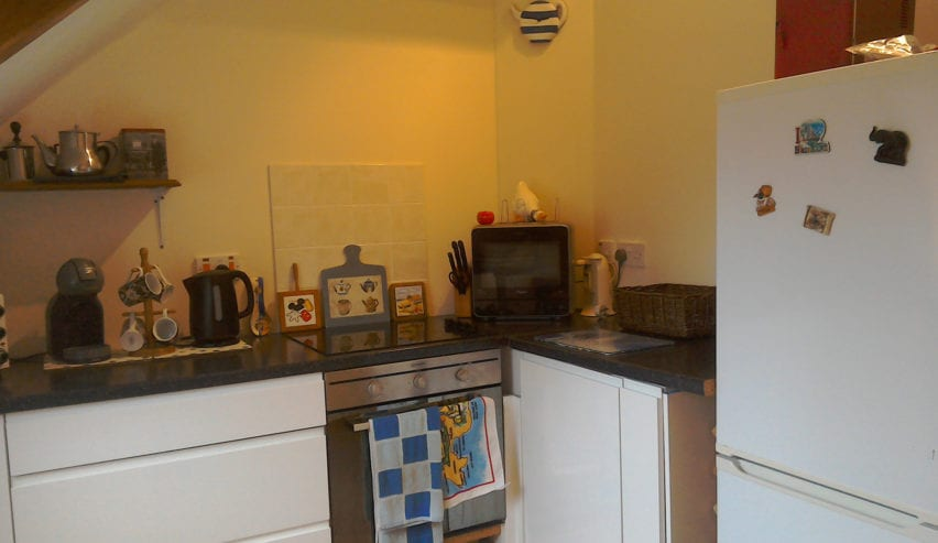 kitchen at Argyll Backpackers self catering on the shores of Loch Fyne