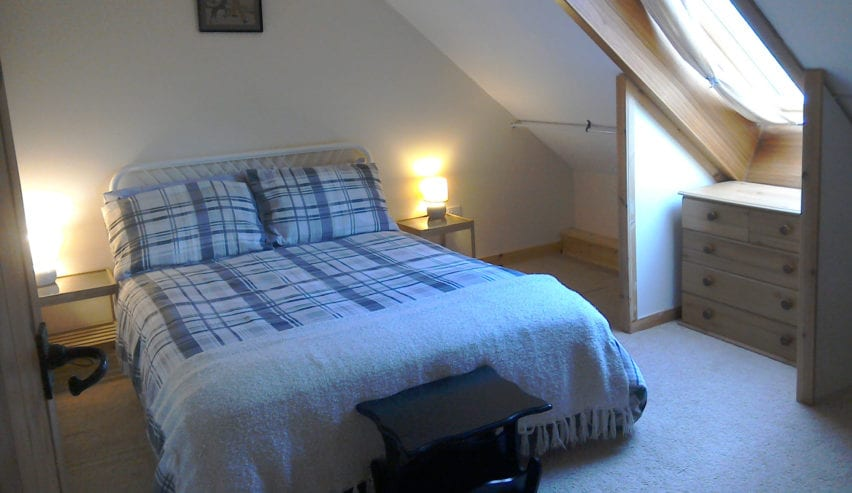 private room at Argyll Backpackers self catering on the shores of Loch Fyne