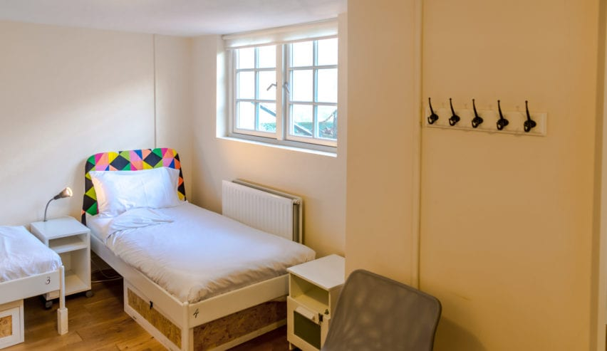single bed at Park Villa Boutique Hostel