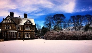 Cliffe house in the snow