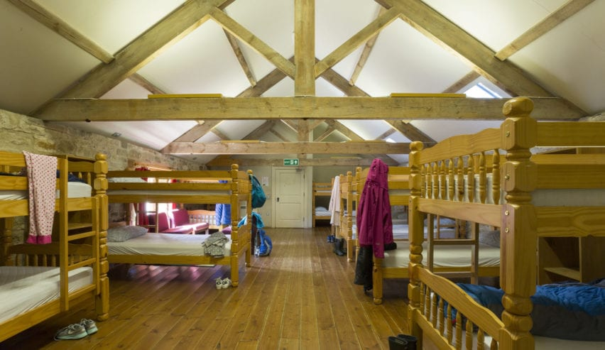 bunks in Gibside Stables bunkhouse