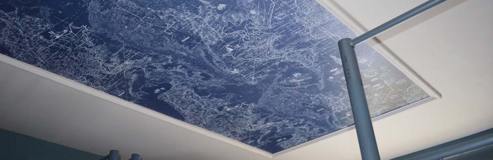 Ceiling Map in cafe in central London