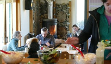 Eating at the Eco Lodge February half term