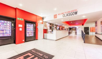 Glasgow Euro Hostel Reception