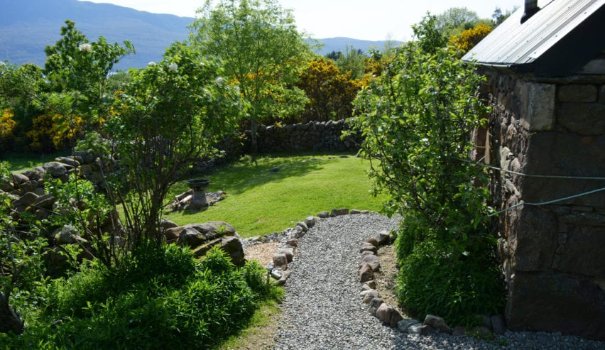 garden at Badrallach Bothy