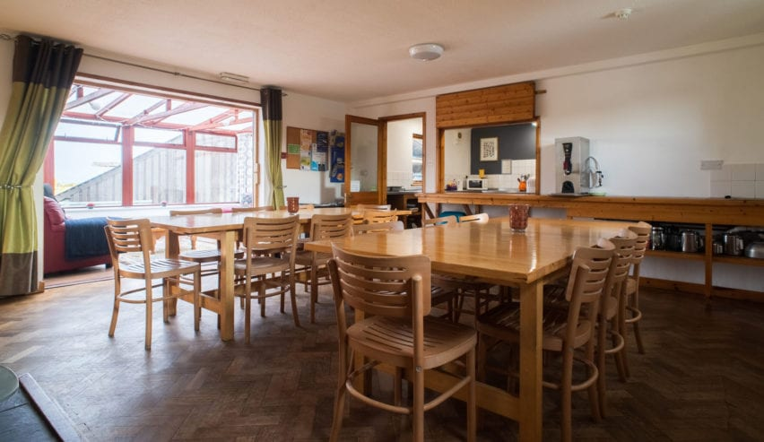 dinning room at outdoor alternative on anglesey
