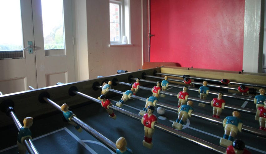 games room at The Pivett Centre school and group accommodation in Hampshire