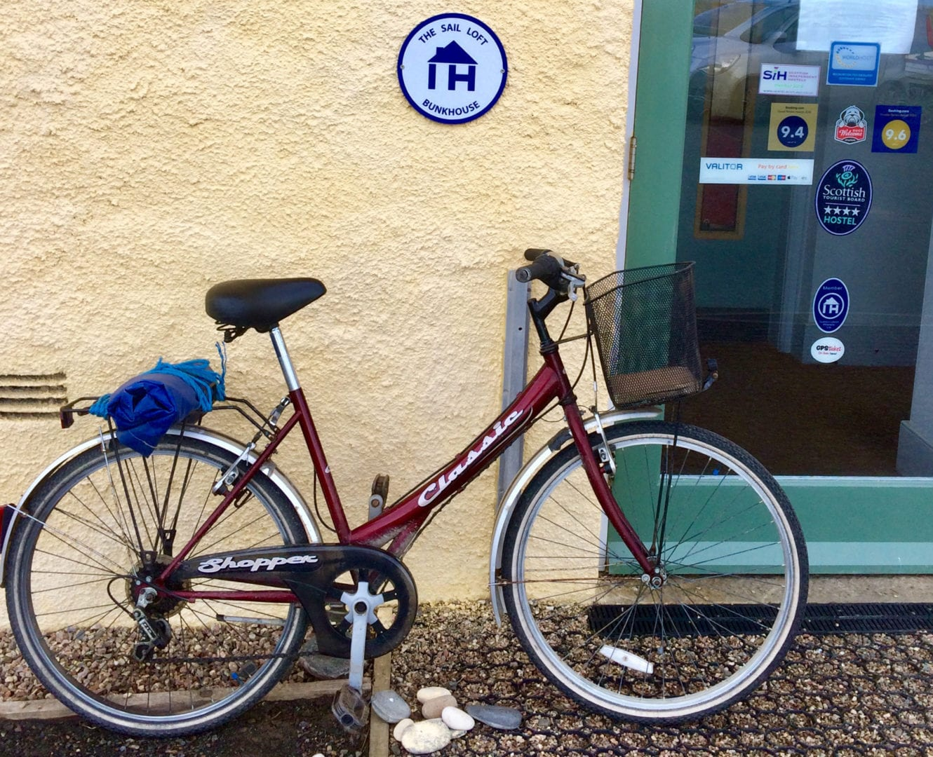 bike at The Sail Loft Hostel at Portsoy