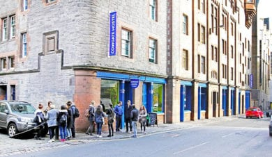 Cowgate Hostel Edinburgh. Street View