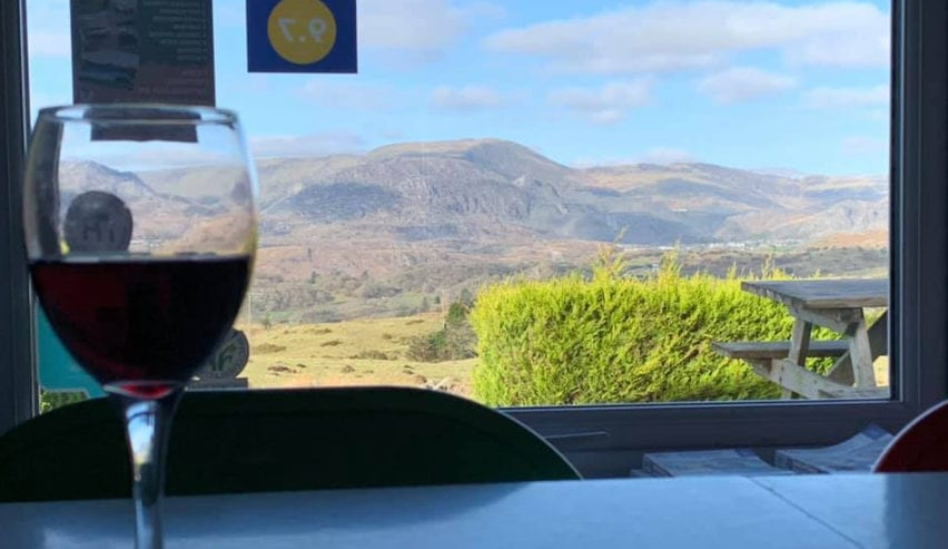 Glass of wine at Treks Bunkhouse Feb half term