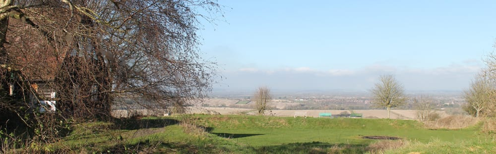 Views over the Vale of the White Horse from YHA Ridgeway Hostel