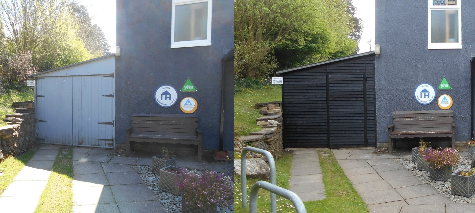 new bike shed at Alston Youth Hostel