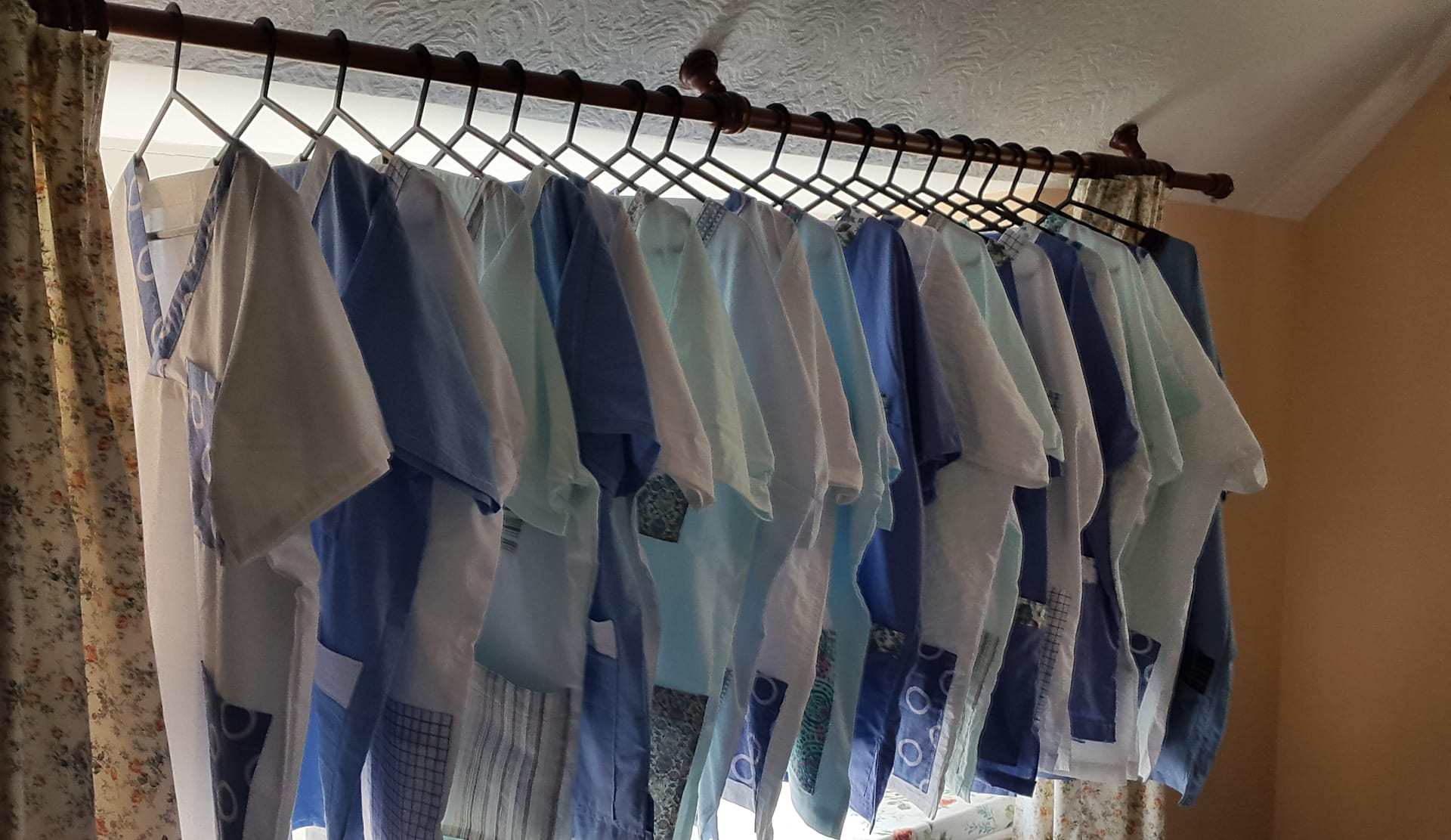 17 scrub tops made for Masson House Care Home