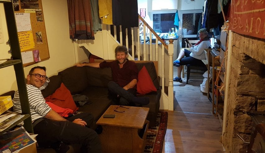 guests at yellow wood micro hostel brecon