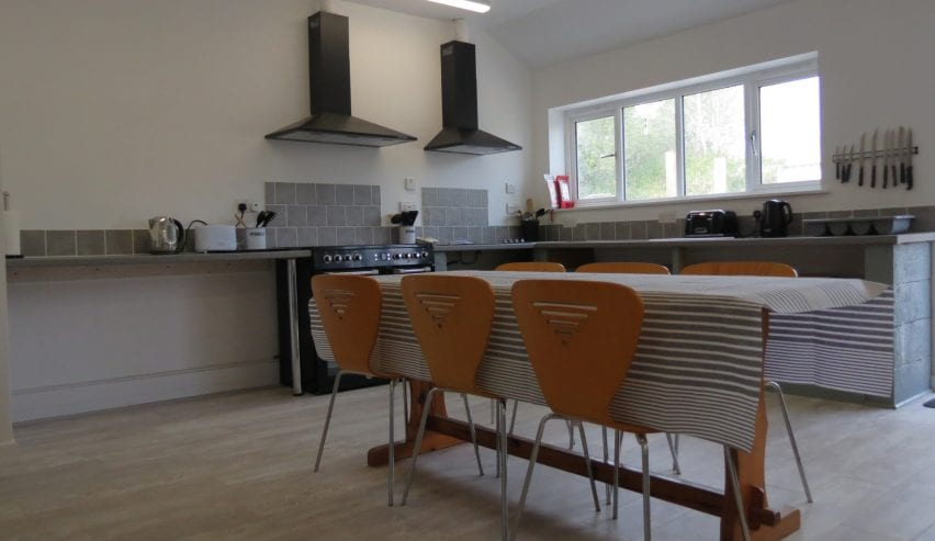 self catering kitchen at Longstone Lodge St.Marys Scilly Isles