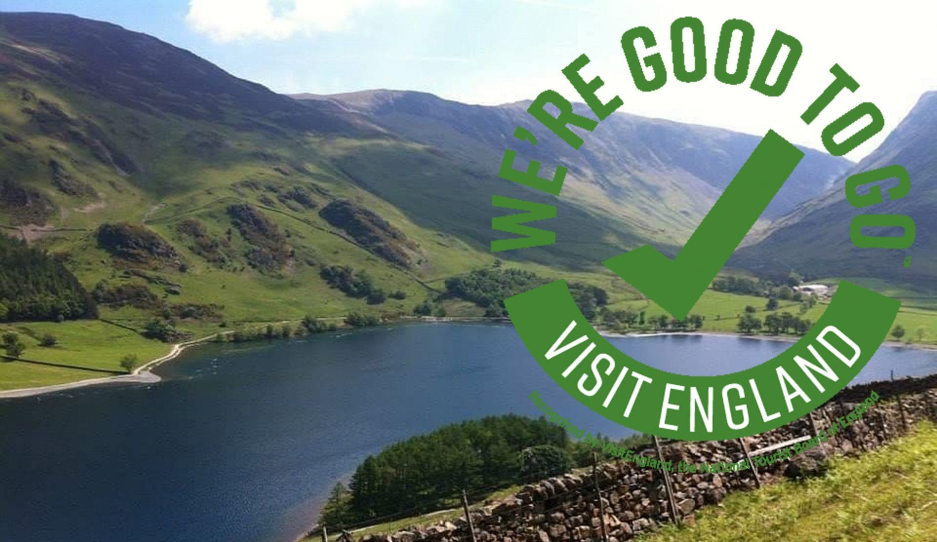 were good to go logo over photo of the lake district