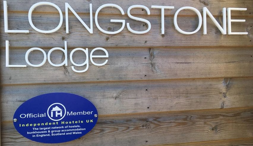 independent hostels sign at Longstone Lodge St.Marys Scilly Isles
