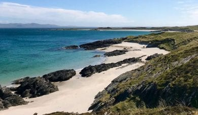 white sand beach on colonsay