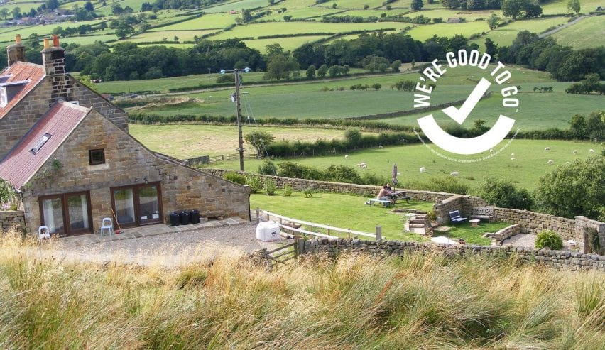 Bank house farm with good to go logo