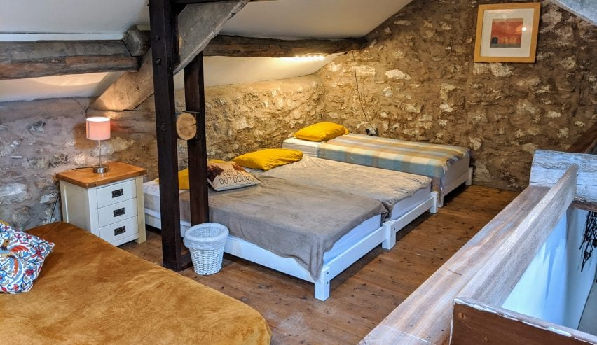Beds in High Pike Glamping Barn