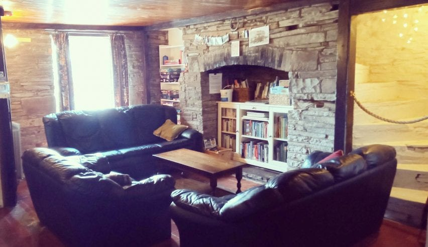 star bunkhouse lounge with hidden staircase