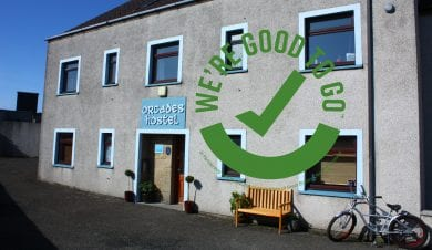 orcades hostels in kirkwall with goodtogo logo