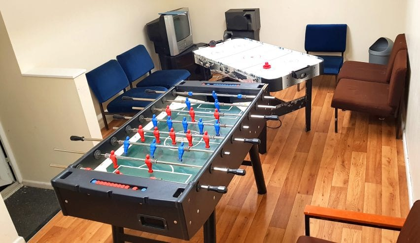 games room at the Woodlands Centre