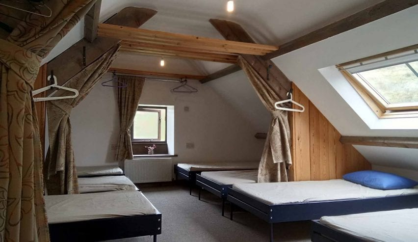 bedrooms at Bank House Farm hostel, Glaisdale
