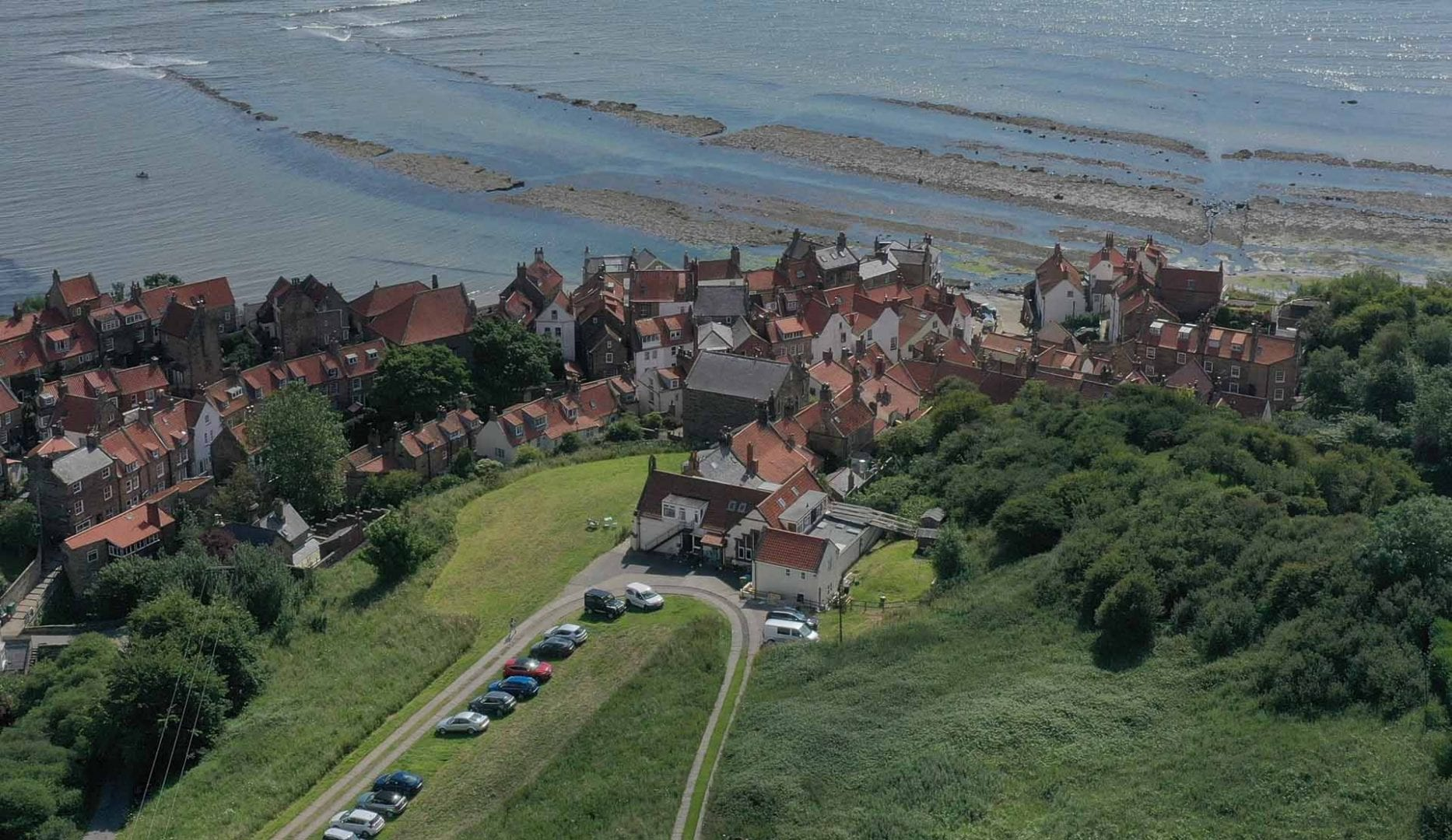 The Old School House Robin Hood's Bay Ariel view