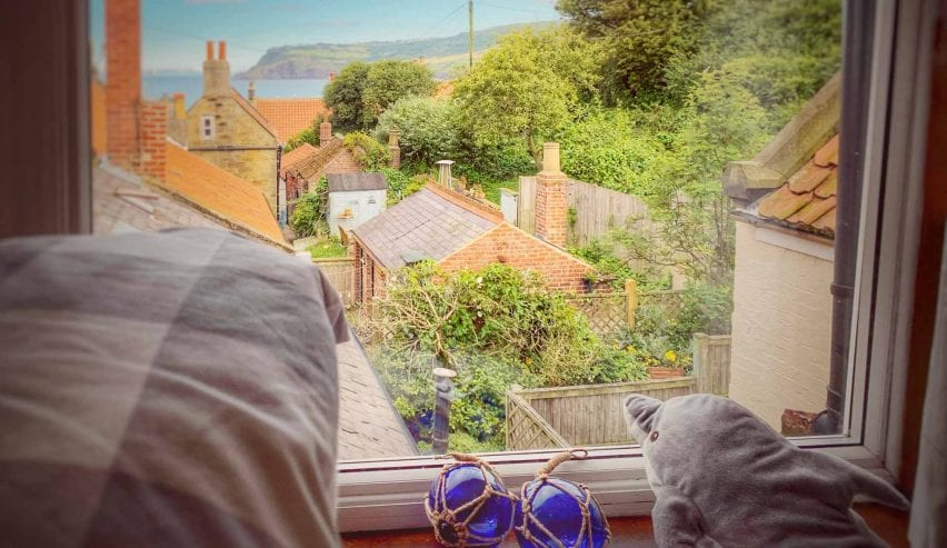 view from bedroom at The Old School House Robin Hood's Bay