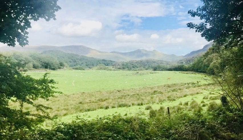 view from Brynkir Coach House Snowdonia