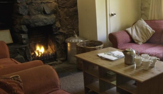 log fire in highland hostel. Perfect for an autumn staycation