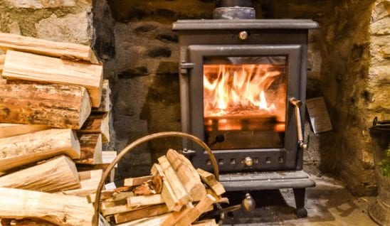 open fire in accommodation in yorkshire