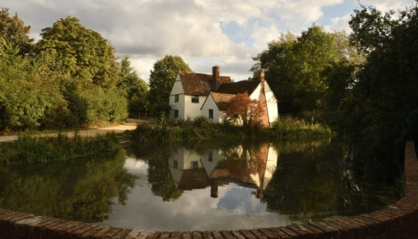 flatford mill in south east england taken in autumn