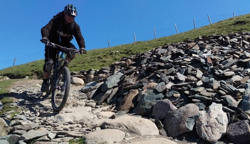 mountain bike in landscape by Woodlands Centre Betws-y-Coed