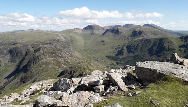 mountain and rocks around Ennerdale in the lake district