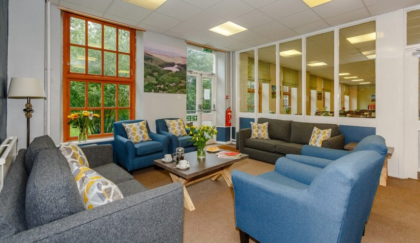 lounge at Cote Ghyll Mill Osmotherley Hostel