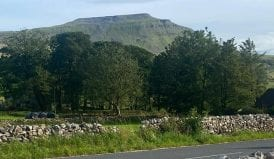 the three peaks viewed from old school bunkhouse