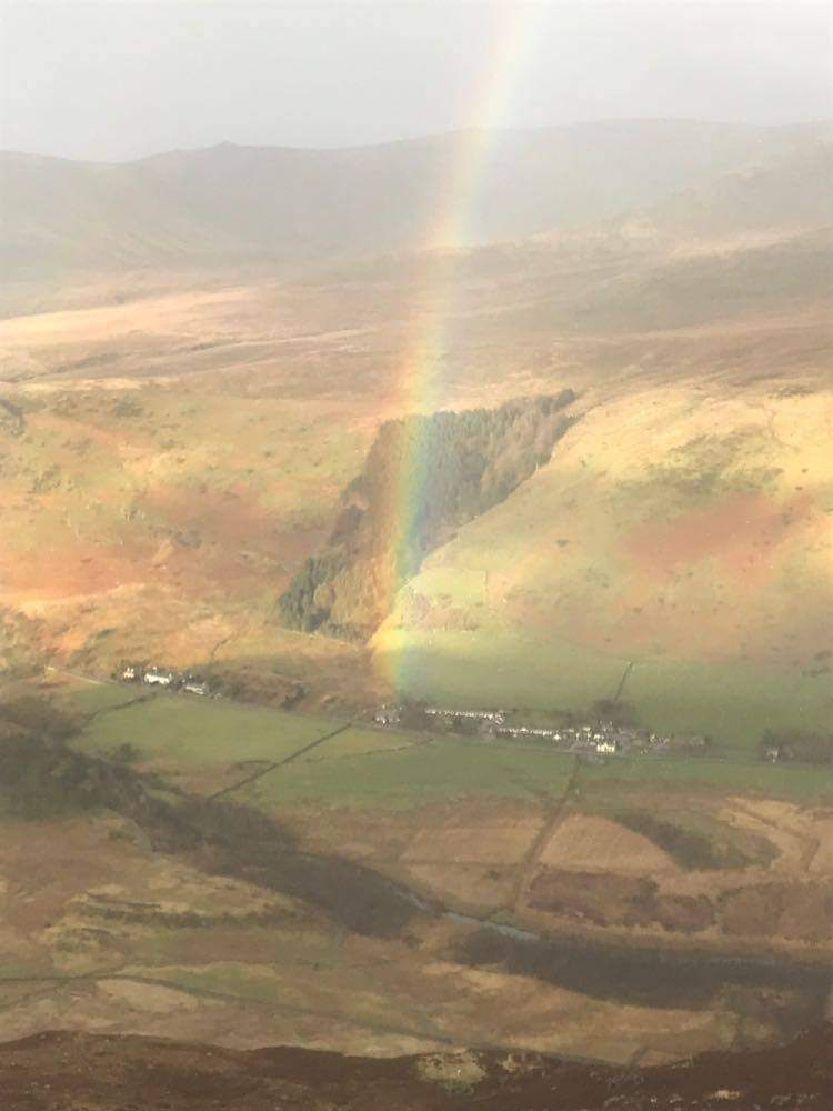 Ogwen Valley Bunkhouse at the end of a rainbow in snowdonia