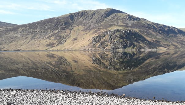 lakes and mountains in Ennerdale in the lake district