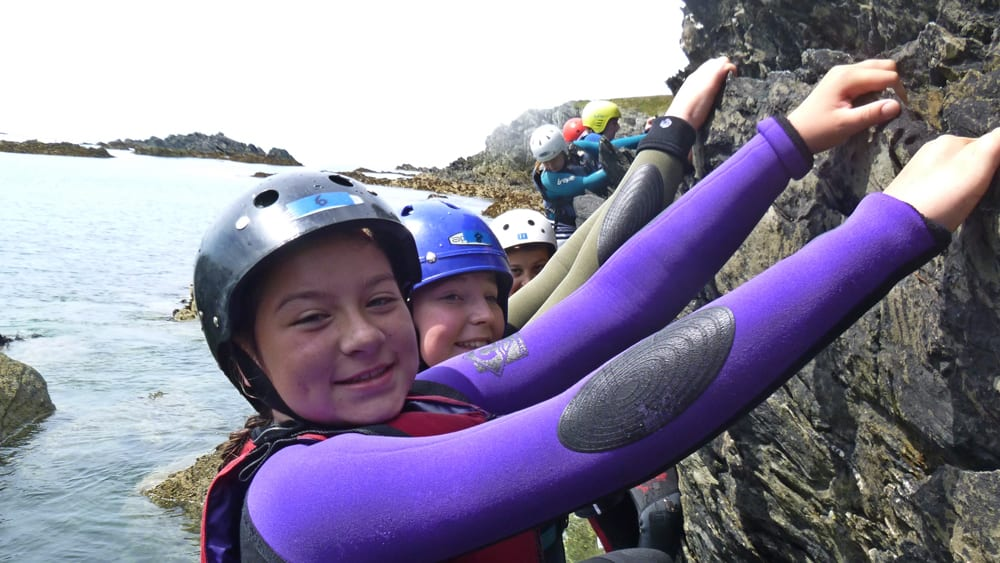 Coasteering an example of outdoor education