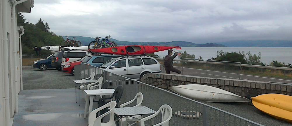 Kayaks at Argyll Backpackers on the West Coast of Scotland