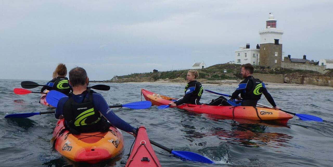 canoeing on the northumberland coast with adventure northumberland