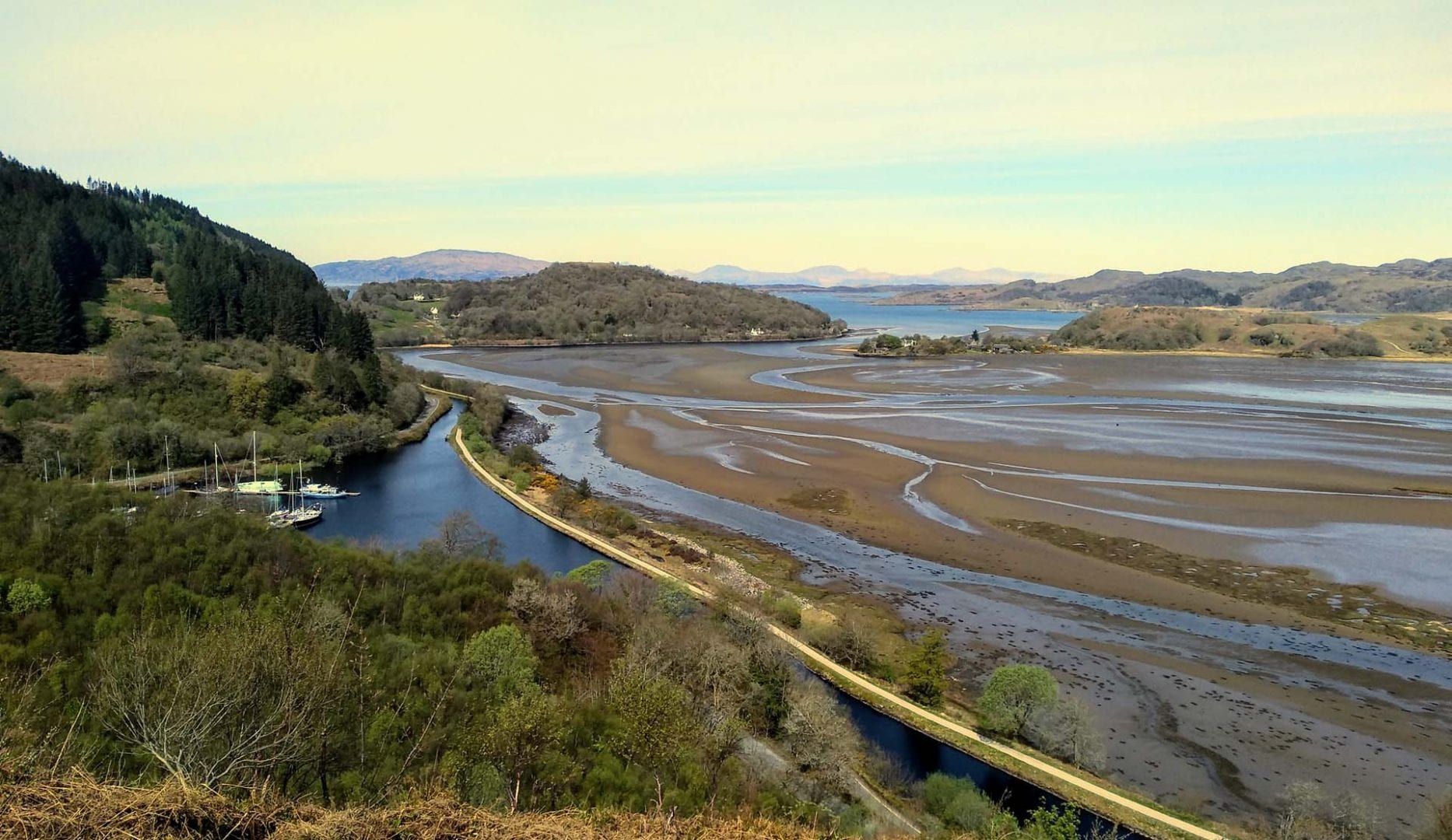 walk from Argyll Backpackers on the West Coast of Scotland