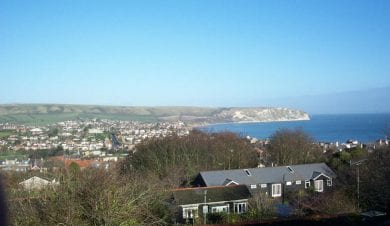 view over Cumulus Centre Swanage Dorset