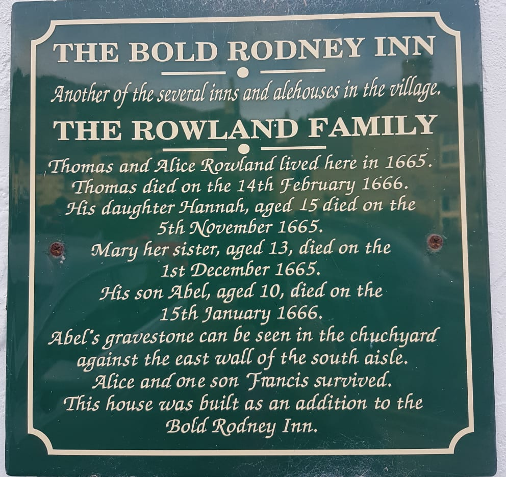 One of the plague plaques at Eyam