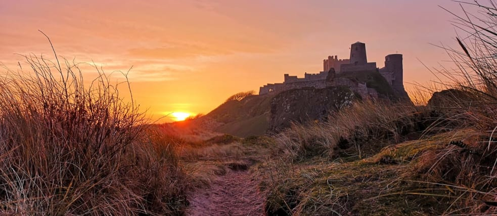 The iconic Bamburgh Castle